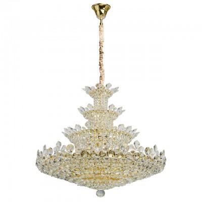 Светильник Mw-light 345011742Подвесные<br><br><br>S освещ. до, м2: 84<br>Тип лампы: накаливания / энергосбережения / LED-светодиодная<br>Тип цоколя: E14<br>Цвет арматуры: золотой<br>Количество ламп: 42<br>Диаметр, мм мм: 1000<br>Высота полная, мм: 1500<br>Высота, мм: 750<br>MAX мощность ламп, Вт: 40
