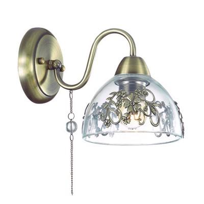 Светильник Lumion 3452/1WКлассические<br>Элегантная и романтичная серия Absolona удивляет изящностью  подобранных декоров: прозрачные бусины, цепочки, декор на стекле, подвеска с женской фмгурой.<br><br>Крепление: Настенное<br>Тип лампы: Накаливания / энергосбережения / светодиодная<br>Тип цоколя: E27<br>Количество ламп: 1<br>Ширина, мм: 150<br>Расстояние от стены, мм: 250<br>Высота, мм: 260<br>MAX мощность ламп, Вт: 60