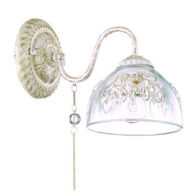 Светильник Lumion 3453/1WКлассические<br>Элегантная и романтичная серия Absolona удивляет изящностью  подобранных декоров: прозрачные бусины, цепочки, декор на стекле, подвеска с женской фмгурой. Особое очарование и нежность придает модели цвет слоновой кости<br><br>Крепление: Настенное<br>Тип лампы: Накаливания / энергосбережения / светодиодная<br>Тип цоколя: E14<br>Количество ламп: 1<br>Ширина, мм: 150<br>Расстояние от стены, мм: 250<br>Высота, мм: 260<br>MAX мощность ламп, Вт: 60