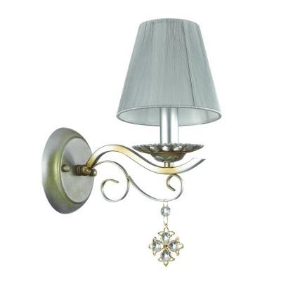 Odeon light NARSISSA 3462/1W Светильник настенный браКлассические<br><br><br>Тип лампы: Накаливания / энергосбережения / светодиодная<br>Тип цоколя: E14<br>Количество ламп: 1<br>Ширина, мм: 140<br>MAX мощность ламп, Вт: 40<br>Расстояние от стены, мм: 230<br>Высота, мм: 310