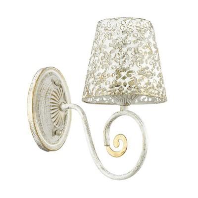 Светильник Lumion 3465/1Wсовременные бра модерн<br>Серия Izidora выделяется на фоне других изделий оригинальным решением  для плафона: он выполнен из металла того же цвета, что и основание, белый цвет с золотым патинированием.