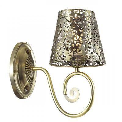 Светильник Lumion 3466/1Wсовременные бра модерн<br>Легкая ажурная серия Izidora в белом цвете с золотой патиной создана быть жемчужиной интерьера.Плафоны  из металла с резным кружевом создадут потрясающие световые эффекты.<br><br>Крепление: Настенное<br>Тип лампы: Накаливания / энергосбережения / светодиодная<br>Тип цоколя: E14<br>Количество ламп: 1<br>Ширина, мм: 140<br>Расстояние от стены, мм: 230<br>Высота, мм: 255<br>MAX мощность ламп, Вт: 60