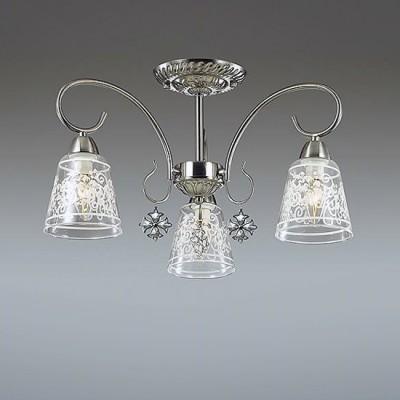 Светильник Lumion 3469/3CПотолочные<br>Серия Barnibbo - это элегантные светильники в цвете матовый никель для функционального освещения в классическом интерьере. В ней используются массивные стеклянные плафоны с утонченным рисунком, благодаря которым в помещении будет обеспечено мягкое освещение.  Изящные подвески придают светильнику нарядность.<br><br>Установка на натяжной потолок: Да<br>S освещ. до, м2: 6<br>Крепление: Потолочное<br>Тип лампы: Накаливания / энергосбережения / светодиодная<br>Тип цоколя: E14<br>Количество ламп: 3<br>Диаметр, мм мм: 545<br>Высота, мм: 295<br>MAX мощность ламп, Вт: 40