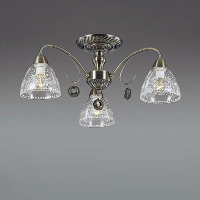 Светильник Lumion 3470/3CПотолочные<br>Изящный  светильник с оригинальным и  изящно декорированным  прозрачным плафоном, который прекрасно сочетается с арматурой цвета глянцевая бронза. Рожки люстры украшены оригинальными подвесками в виде металлической сеточки, гармонирующими со всем обликом светильника.<br><br>Установка на натяжной потолок: Да<br>S освещ. до, м2: 6<br>Крепление: Потолочное<br>Тип лампы: Накаливания / энергосбережения / светодиодная<br>Тип цоколя: E14<br>Количество ламп: 3<br>Диаметр, мм мм: 550<br>Высота, мм: 210<br>MAX мощность ламп, Вт: 40