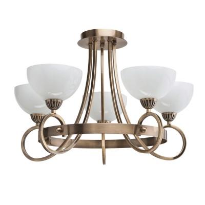 Люстра Mw light 347015705 ФелицияПотолочные<br>Металлическое основание цвета античной бронзы, белые плафоны из опалового стекла.<br><br>Установка на натяжной потолок: Да<br>S освещ. до, м2: 15<br>Крепление: Планка<br>Тип лампы: накаливания / энергосбережения / LED-светодиодная<br>Тип цоколя: E14<br>Количество ламп: 5<br>MAX мощность ламп, Вт: 60<br>Диаметр, мм мм: 600<br>Высота, мм: 430<br>Поверхность арматуры: глянцевый<br>Цвет арматуры: бронзовый<br>Общая мощность, Вт: 300