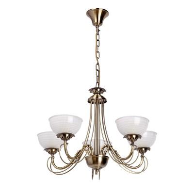 Лстра подвесна Mw light 347016905 ФелициПодвесные<br>Классическа лстра с белыми плафонами дл аристократического интерьера<br><br>S освещ. до, м2: 15<br>Тип лампы: накаливани<br>Тип цокол: E27<br>Количество ламп: 5<br>MAX мощность ламп, Вт: 60<br>Высота, мм: 800<br>Цвет арматуры: античный бронзовый<br>Обща мощность, Вт: 300