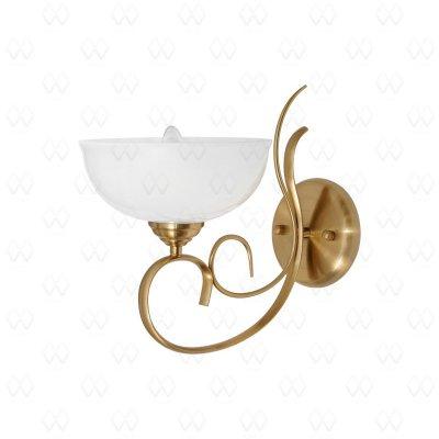 Светильник настенный бра Mw light 347025401 ФелицияКлассические<br>Металлическое основание цвета медовой бронзы, стеклянный плафон.<br><br>S освещ. до, м2: 2<br>Тип лампы: накаливания / энергосбережения / LED-светодиодная<br>Тип цоколя: E27<br>Количество ламп: 1<br>Ширина, мм: 210<br>MAX мощность ламп, Вт: 40<br>Длина, мм: 300<br>Высота, мм: 310<br>Поверхность арматуры: глянцевый<br>Цвет арматуры: медовая латунь<br>Общая мощность, Вт: 40