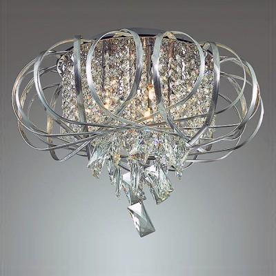 Odeon light UDESSA 3477/5C ЛюстраПотолочные<br><br><br>Установка на натяжной потолок: Да<br>S освещ. до, м2: 10<br>Тип лампы: галогенная/LED<br>Тип цоколя: G9<br>Цвет арматуры: серебристый хром<br>Количество ламп: 5<br>Диаметр, мм мм: 430<br>Высота, мм: 310<br>MAX мощность ламп, Вт: 40