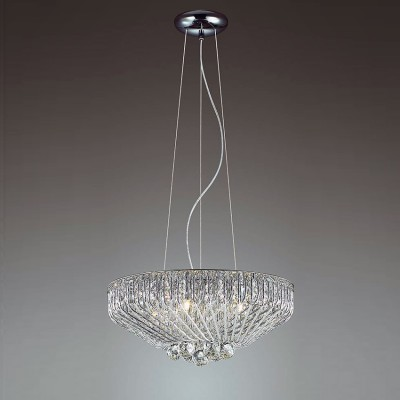 Odeon light ELOI 3478/5 ЛюстраПодвесные<br><br><br>Установка на натяжной потолок: Да<br>S освещ. до, м2: 10<br>Тип лампы: галогенная/LED<br>Тип цоколя: G9<br>Цвет арматуры: серебристый хром<br>Количество ламп: 5<br>Диаметр, мм мм: 430<br>Высота, мм: 1390<br>MAX мощность ламп, Вт: 40