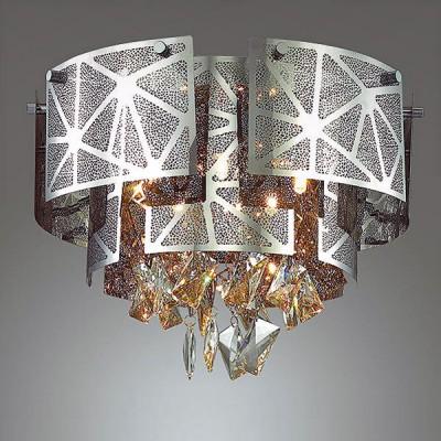 Odeon light HILARY 3479/5C ЛюстраПотолочные<br><br><br>S освещ. до, м2: 10<br>Тип лампы: галогенная/LED<br>Тип цоколя: G9<br>Количество ламп: 5<br>MAX мощность ламп, Вт: 40<br>Диаметр, мм мм: 430<br>Высота, мм: 310<br>Цвет арматуры: серебристый хром