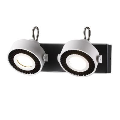 Спот Odeon light 3490/2W SATELIUMдвойные светильники споты<br><br><br>Тип лампы: галогенная/LED - светодиодная<br>Тип цоколя: GU10<br>Цвет арматуры: белый/черный<br>Количество ламп: 2<br>Ширина, мм: 266<br>Длина, мм: 105<br>Высота, мм: 155<br>Поверхность арматуры: матовая<br>Оттенок (цвет): белый с черным<br>MAX мощность ламп, Вт: 50
