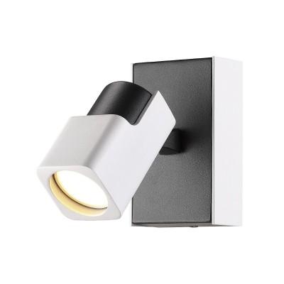 Спот Odeon light 3491/1W DARAVISодиночные споты<br><br><br>Тип лампы: галогенная/LED - светодиодная<br>Тип цоколя: GU10<br>Цвет арматуры: белый/черный<br>Количество ламп: 1<br>Ширина, мм: 80<br>Длина, мм: 130<br>Высота, мм: 130<br>Поверхность арматуры: матовая<br>Оттенок (цвет): белый с черным<br>MAX мощность ламп, Вт: 50