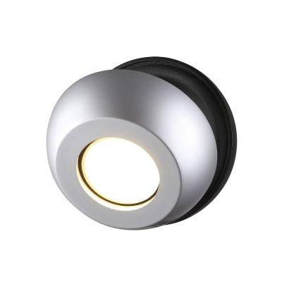Спот Odeon light 3492/1W NERARGOодиночные споты<br><br><br>Тип лампы: галогенная/LED - светодиодная<br>Тип цоколя: GU10<br>Цвет арматуры: серебристый/черный<br>Количество ламп: 1<br>Ширина, мм: 110<br>Длина, мм: 90<br>Высота, мм: 110<br>Поверхность арматуры: матовая<br>Оттенок (цвет): черный с серебристым<br>MAX мощность ламп, Вт: 50