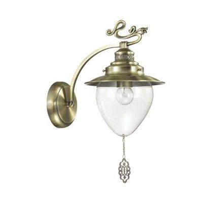 Светильник Lumion 3496/1WОжидается<br>Серия Prana в белом цвете с золотой патиной в сочетании с прозрачными плафонами смотрится изящно и невесомо. Декоративные ажурные подвески, украшающие плафон, гармонично сочетаются с декоративными металлическими элементами на рожках<br><br>Тип цоколя: E27<br>Количество ламп: 1<br>Ширина, мм: 200<br>MAX мощность ламп, Вт: 60<br>Длина, мм: 290<br>Расстояние от стены, мм: 25<br>Оттенок (цвет): бронза