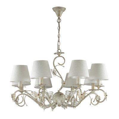 Светильник Lumion 3497/8Ожидается<br>Восхитительная серия Wispa ассоциируется с юностью, нежностью и красотой. Великолепные бабочки, украшающие светильник, создадут атмосферу спокойствия и безмятежности. Плафоны, мягко рассеивающие свет, подарят тепло и уют<br><br>Тип цоколя: E14<br>Количество ламп: 8<br>Ширина, мм: 785<br>MAX мощность ламп, Вт: 40<br>Длина цепи/провода, мм: 470<br>Длина, мм: 785<br>Высота, мм: 415<br>Оттенок (цвет): белый / зол.патина