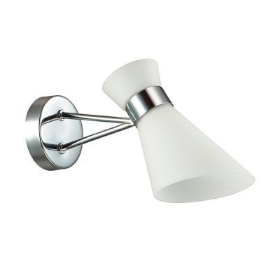 Светильник Lumion 3498/1WОжидается<br>Современная серия Laconica сочетает в себе современный дизайн и лаконичный стиль. Такая люстра вполне подойдет как в гостиную в стиле модерн, так и в яркую детскую комнату<br><br>Тип цоколя: E14<br>Количество ламп: 1<br>Ширина, мм: 110<br>MAX мощность ламп, Вт: 40<br>Длина, мм: 273<br>Расстояние от стены, мм: 25<br>Оттенок (цвет): серебристный хром
