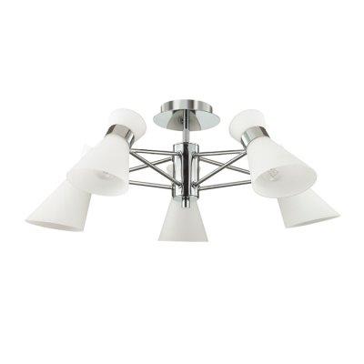 Светильник Lumion 3498/5люстры хай тек потолочные<br>Современная серия Laconica сочетает в себе современный дизайн и лаконичный стиль. Такая люстра вполне подойдет как в гостиную в стиле модерн, так и в яркую детскую комнату