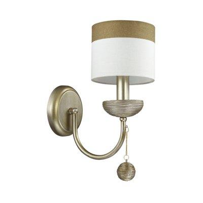 Светильник Lumion 3501/1WОжидается<br>Серебристый цвет основания светильника с оригинальной отделкой под камень, а также абажуры из ткани с коричневой окантовкой, делают эту серию необычной и навевают атмосферу античности<br><br>Тип цоколя: E14<br>Количество ламп: 1<br>Ширина, мм: 140<br>MAX мощность ламп, Вт: 40<br>Длина, мм: 235<br>Оттенок (цвет): серебристый / золот.патина