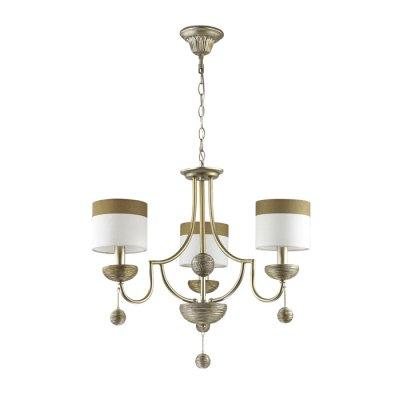 Светильник Lumion 3501/3Ожидается<br>Серебристый цвет основания светильника с оригинальной отделкой под камень, а также абажуры из ткани с коричневой окантовкой, делают эту серию необычной и навевают атмосферу античности<br><br>Тип цоколя: E14<br>Количество ламп: 3<br>Ширина, мм: 640<br>MAX мощность ламп, Вт: 40<br>Длина цепи/провода, мм: 445<br>Длина, мм: 640<br>Высота, мм: 535<br>Оттенок (цвет): серебристый / золот.патина