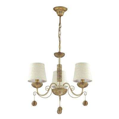Светильник Lumion 3502/3Ожидается<br>Серебристый цвет основания светильника с золотой патиной и с оригинальной отделкой под камень, абажуры из натуральной ткани, делают эту серию необычной и навевают атмосферу античности<br><br>Тип цоколя: E14<br>Количество ламп: 3<br>Ширина, мм: 630<br>MAX мощность ламп, Вт: 40<br>Длина цепи/провода, мм: 445<br>Длина, мм: 630<br>Высота, мм: 470<br>Оттенок (цвет): серебристый / золот.патина