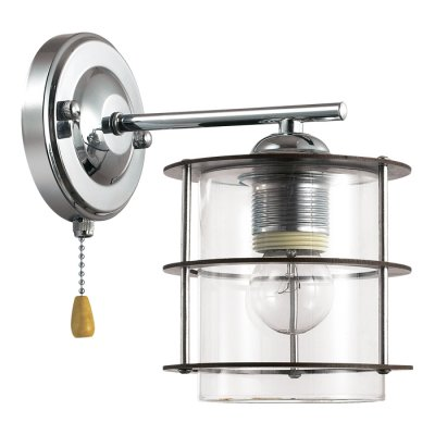 Бра Lumion 3504/1W ROTONDUMЛофт<br>Стильная и современная серия Rotondum отличается оригинальными плафонами, выполненными из прозрачного круглого стекла, обрамленного деревянной решеткой. Такой светильник станет отличным оформлением интерьера в современном или японском стиле<br><br>Тип лампы: Накаливания / энергосбережения / светодиодная<br>Тип цоколя: E27<br>Количество ламп: 1<br>Ширина, мм: 130<br>Расстояние от стены, мм: 215<br>Высота, мм: 215<br>Оттенок (цвет): серебристный хром<br>MAX мощность ламп, Вт: 60