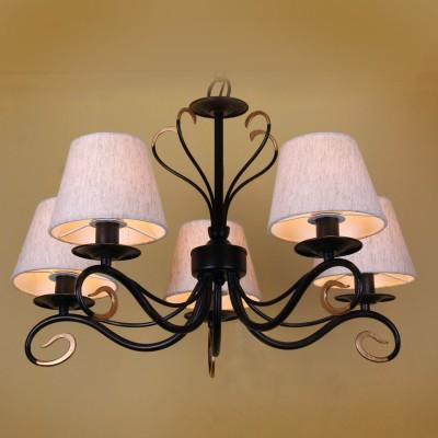 Люстра Lamplandia 3506-5 SaraПодвесные<br>Классическая люстра из металла черного-золотого цвета с гармонично сочитающимися абажурами бежевого цвета<br><br>Установка на натяжной потолок: Да<br>S освещ. до, м2: 13<br>Крепление: Крюк<br>Тип лампы: накаливания / энергосбережения / LED-светодиодная<br>Тип цоколя: E14<br>Количество ламп: 5<br>Ширина, мм: 630<br>MAX мощность ламп, Вт: 60<br>Длина, мм: 630<br>Высота, мм: 420 - 740<br>Цвет арматуры: коричневый