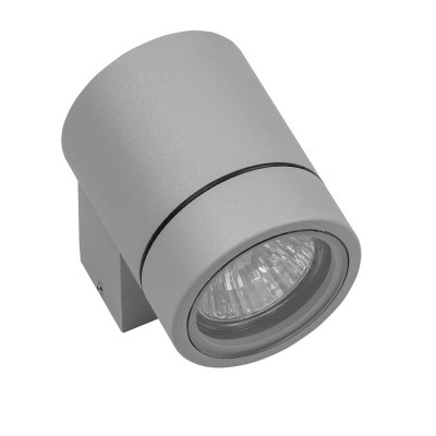 Светильник уличный настенный Lightstar 350609 Paroуличные настенные светильники<br>Крепление: a30; Внешние габариты: D65 L97 H85; Материал - основание/плафон: металл; Цвет-основание/плафон: серый; Лампа: HP16 GU10 max50W