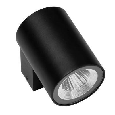 Светильник светодиодный уличный настенный Lightstar 350674 Paroуличные настенные светильники<br>Крепление: a30; Внешние габариты: D65 L97 H90; Материал - основание/плафон: металл; Цвет-основание/плафон: черный; Лампа: LED 8W, Световой поток: 600LM; Угол рассеивания: 24G; Встроенный транcформатор 4000К;
