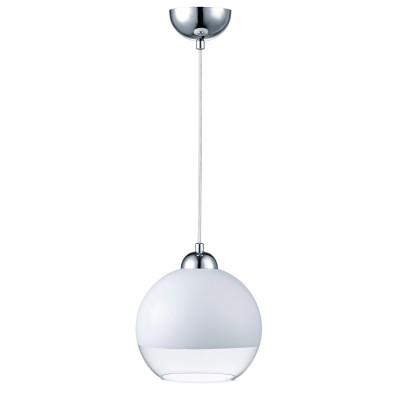 Подвес Lamplandia 3510-1 BOB белыйОдиночные<br>Вид светильника: потолочный<br>Размер: 20 x 20 x 130<br>Мощность: 1*E27*40W<br>Материал: Металл, Стекло<br><br>Крепление: потолочный<br>Тип лампы: Накаливания / энергосбережения / светодиодная<br>Тип цоколя: E27<br>Количество ламп: 1<br>MAX мощность ламп, Вт: 40<br>Диаметр, мм мм: 200<br>Высота, мм: 1300<br>Цвет арматуры: серебристый хром