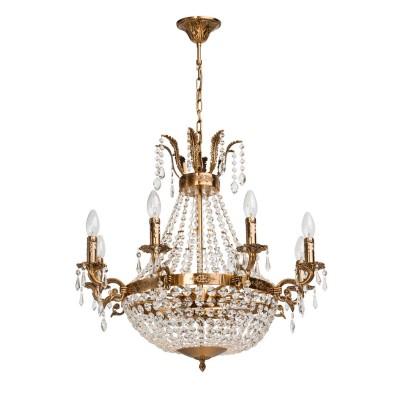 Люстра Mw light 351016511 ИзабеллаПодвесные<br>Описание модели 351016511: Декоративное оформление подвесного светильника из коллекции Изабелла состоит из множества драгоценных, ярко переливающихся, прозрачных подвесок хрусталя! Классическая форма металлической арматуры выполнена в цвете сверкающей античной бронзы, которая оформлена декоративными элементами в виде свечей, расположенных на широком ободке с чеканкой из уникальных вензелей. Верхняя часть светильника Изабелла украшена металлическими листиками с хрустальными подвесками, символизируя королевскую тематику.<br><br>Установка на натяжной потолок: Да<br>S освещ. до, м2: 33<br>Рекомендуемые колбы ламп: свеча / свеча на ветру<br>Крепление: Крюк<br>Тип лампы: накаливания / энергосбережения / LED-светодиодная<br>Тип цоколя: E14<br>Цвет арматуры: бронзовый<br>Количество ламп: 11<br>Диаметр, мм мм: 680<br>Длина цепи/провода, мм: 300<br>Высота, мм: 950<br>Поверхность арматуры: глянцевый<br>MAX мощность ламп, Вт: 60<br>Общая мощность, Вт: 660