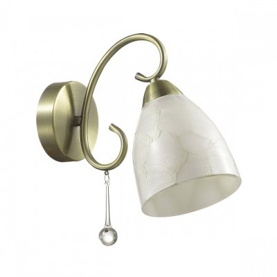 Светильник Lumion 3511/1WОжидается<br>Необычную серию Eleconca украшают арматура в бронзовом цвете, металлический декор и плафоны с эффектом потрескавшегося стекла. Такой светильник будет дарить яркий свет и чудесное настроение<br><br>Тип цоколя: E27<br>Количество ламп: 1<br>Ширина, мм: 120<br>MAX мощность ламп, Вт: 60<br>Длина, мм: 280<br>Расстояние от стены, мм: 25<br>Оттенок (цвет): бронзовый