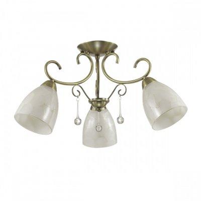 Светильник Lumion 3511/3Cлюстры потолочные классические<br>Необычную серию Eleconca украшают арматура в бронзовом цвете, металлический декор и плафоны с эффектом потрескавшегося стекла. Такой светильник будет дарить яркий свет и чудесное настроение<br><br>Установка на натяжной потолок: Да<br>Крепление: Планка<br>Тип лампы: Накаливания / энергосбережения / светодиодная<br>Тип цоколя: E27<br>Цвет арматуры: бронзовый<br>Количество ламп: 3<br>Диаметр, мм мм: 615<br>Высота, мм: 300<br>Поверхность арматуры: матовая<br>Оттенок (цвет): бронзовый<br>MAX мощность ламп, Вт: 60