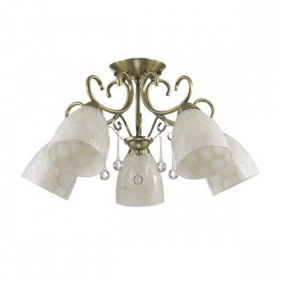 Светильник Lumion 3511/5CОжидается<br>Необычную серию Eleconca украшают арматура в бронзовом цвете, металлический декор и плафоны с эффектом потрескавшегося стекла. Такой светильник будет дарить яркий свет и чудесное настроение<br><br>Тип цоколя: E27<br>Количество ламп: 5<br>Ширина, мм: 615<br>MAX мощность ламп, Вт: 60<br>Длина, мм: 615<br>Оттенок (цвет): бронзовый