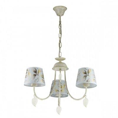Люстра Lumion 3516/3 ANAMIVAПодвесные<br>Серия Anamiva покоряет своей красотой и лаконичностью форм. Светильник из металлического основания, окрашенного в яркий белый цвет с золотой патиной. Абажур выполнен из натуральной белой ткани с декоративным цветным узором. Такой светильник способен освежить интрерьер кухни, гостиной зоны или спальни, привнести в него спокойствие и гармонию, создать атмосферу загородного дома<br><br>S освещ. до, м2: 9<br>Тип лампы: Накаливания / энергосбережения / светодиодная<br>Тип цоколя: E14<br>Количество ламп: 3<br>MAX мощность ламп, Вт: 60<br>Диаметр, мм мм: 600<br>Высота, мм: 300 - 700<br>Оттенок (цвет): белый / золот.патина