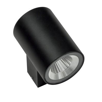 Уличный настенный светильник Lightstar 351672 Paroуличные настенные светильники<br>Крепление: a30; Внешние габариты: D65 L97 H90; Материал - основание/плафон: металл; Цвет-основание/плафон: черный; Лампа: LED 2*6W, Световой поток: 960LM; Угол рассеивания: 24G; Встроенный транcформатор 3000К;<br><br>Крепление: планка<br>Цветовая t, К: 3000<br>Тип лампы: LED - светодиодная<br>Тип цоколя: LED, встроенные светодиоды<br>Цвет арматуры: черный<br>Количество ламп: 1<br>Ширина, мм: 65<br>Диаметр, мм мм: 65<br>Размеры основания, мм: 34/56<br>Длина, мм: 97<br>Расстояние от стены, мм: 97<br>Высота, мм: 90<br>Поверхность арматуры: матовая<br>Оттенок (цвет): черный<br>MAX мощность ламп, Вт: 6<br>Общая мощность, Вт: 120