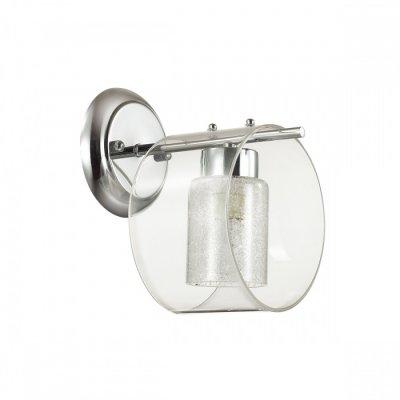 Светильник Lumion 3527/1WОжидается<br>Серия Vetrosana выполнена из металла цвета хром и двойного плафона из прозрачного стекла и стекла с хрустальной крошкой, что обеспечивает яркий, и в то же время мягкий, рассеивающий свет. Светильник идеально впишется в любой интерьер<br><br>Тип цоколя: E14<br>Количество ламп: 1<br>Ширина, мм: 160<br>MAX мощность ламп, Вт: 60<br>Расстояние от стены, мм: 170<br>Оттенок (цвет): серебристный хром