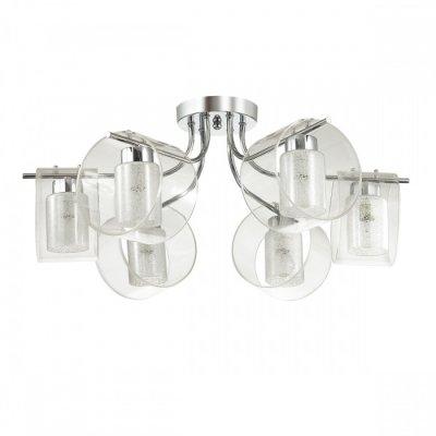 Светильник Lumion 3527/6CОжидается<br>Серия Vetrosana выполнена из металла цвета хром и двойного плафона из прозрачного стекла и стекла с хрустальной крошкой, что обеспечивает яркий, и в то же время мягкий, рассеивающий свет. Светильник идеально впишется в любой интерьер<br><br>Тип цоколя: E14<br>Количество ламп: 6<br>Ширина, мм: 560<br>MAX мощность ламп, Вт: 60<br>Длина, мм: 560<br>Оттенок (цвет): серебристный хром