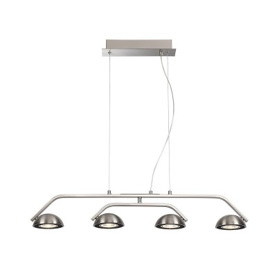 Подвесной светильник Odeon light 3535/4L KARIMAдлинные подвесные светильники<br><br><br>Цветовая t, К: 3000K<br>Тип лампы: LED - светодиодная<br>Тип цоколя: LED, встроенные светодиоды<br>Цвет арматуры: серебристый<br>Количество ламп: 4<br>Ширина, мм: 785<br>Длина, мм: 115<br>Высота, мм: 1200<br>Поверхность арматуры: матовая<br>Оттенок (цвет): никель<br>MAX мощность ламп, Вт: 7