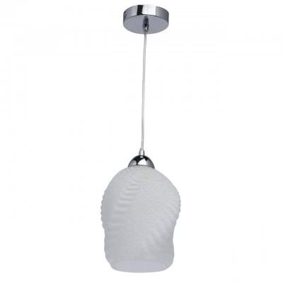 Светильник Mw-light 354017301Одиночные<br>354017301 - это Необычный светильник-подвес из коллекции «Лоск» оценят любители современных тенденций в интерьере. Основание из металла цвета хрома отлично смотрится в сочетании с матовым стеклянным плафоном. Его оригинальная витая рельефная форма – главная изюминка светильника, а белые вкрапления, дополняющие матовый тон, привнесут в обстановку свежесть и легкость.<br><br>S освещ. до, м2: 2<br>Тип лампы: накаливания / энергосбережения / LED-светодиодная<br>Тип цоколя: E27<br>Количество ламп: 1<br>MAX мощность ламп, Вт: 40<br>Диаметр, мм мм: 170<br>Длина цепи/провода, мм: 910<br>Высота, мм: 1200