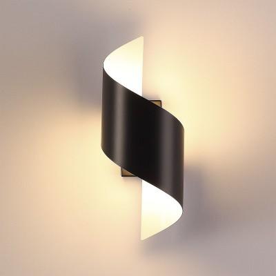 Настенный светильник Odeon light 3542/5LW BOCCOLOсовременные бра модерн<br><br><br>Цветовая t, К: 3000K<br>Тип лампы: LED - светодиодная<br>Тип цоколя: LED, встроенные светодиоды<br>Цвет арматуры: черный<br>Количество ламп: 1<br>Ширина, мм: 126<br>Длина, мм: 145<br>Высота, мм: 300<br>Поверхность арматуры: матовая<br>Оттенок (цвет): черный<br>MAX мощность ламп, Вт: 5