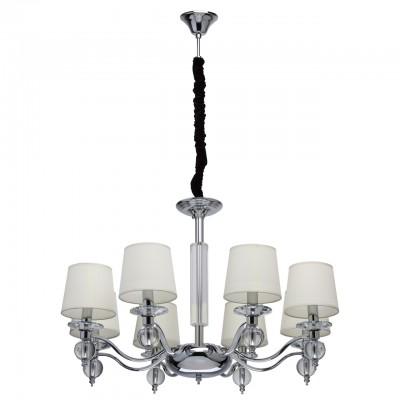 Светильник Mw-light 355013208современные подвесные люстры модерн<br><br><br>S освещ. до, м2: 16<br>Тип лампы: накаливания / энергосбережения / LED-светодиодная<br>Тип цоколя: E14<br>Цвет арматуры: серебристый<br>Количество ламп: 8<br>Диаметр, мм мм: 870<br>Высота, мм: 640<br>MAX мощность ламп, Вт: 40