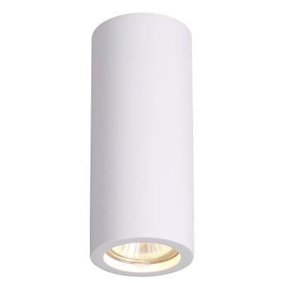 Потолочный накладной светильник Odeon light 3554/1C GESSOкруглые светильники<br><br><br>Тип лампы: LED - светодиодная<br>Тип цоколя: GU10<br>Цвет арматуры: белый<br>Количество ламп: 1<br>Ширина, мм: 70<br>Длина, мм: 70<br>Высота, мм: 170<br>Поверхность арматуры: матовая<br>Оттенок (цвет): белый<br>MAX мощность ламп, Вт: 35