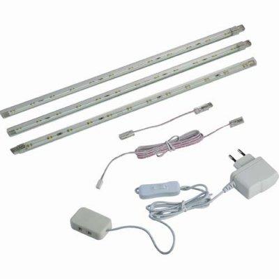 Novotech TERMO 357016 Накладной светильник подсветкаКомплекты LED<br>Набор из трех накладных светодиодных светильников.<br>В комплекте:<br>1. Полоски со светодиодами 3 шт.<br>2. Провод с сетевой вилкой, выключателем и разветвлением.<br>3. Встроенный драйвер.<br>4. Соединительный провод 2,5 м. 3 шт.<br>5. Соединительный провод 10 см. 3 шт.<br>6. Крепеж.<br><br>Тип лампы: LED - светодиодная<br>Тип цоколя: LED<br>MAX мощность ламп, Вт: 36<br>Длина, мм: 310 * 3