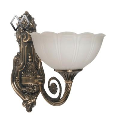 Светильник настенный бра Mw light 357020301 АфинаКлассические<br><br><br>S освещ. до, м2: 3<br>Тип лампы: накаливания / энергосбережения / LED-светодиодная<br>Тип цоколя: E27<br>Количество ламп: 1<br>Ширина, мм: 250<br>MAX мощность ламп, Вт: 60<br>Длина, мм: 180<br>Расстояние от стены, мм: 270<br>Высота, мм: 270<br>Цвет арматуры: бронзовый<br>Общая мощность, Вт: 60