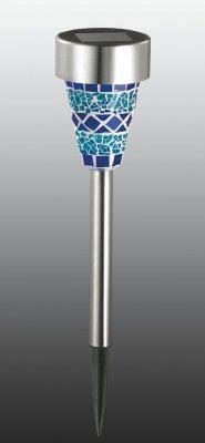 Садовый светильник Novotech 357212Газонные<br><br><br>Тип товара: Садовый уличный светильник на солнечной батарее<br>Тип лампы: LED - светодиодная<br>Количество ламп: 1<br>MAX мощность ламп, Вт: 0,05<br>Диаметр, мм мм: 76<br>Высота, мм: 358<br>Оттенок (цвет): голубой<br>Цвет арматуры: серебристый