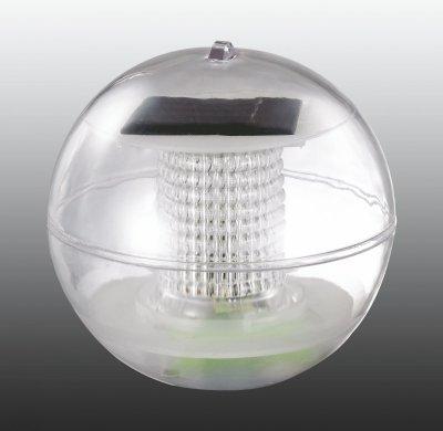 Садовый светильник Novotech 357215В виде шара<br><br><br>Тип товара: Садовый уличный светильник на солнечной батарее<br>Тип лампы: LED - светодиодная<br>MAX мощность ламп, Вт: 0,06<br>Диаметр, мм мм: 80<br>Оттенок (цвет): прозрачный, цветной<br>Цвет арматуры: белый