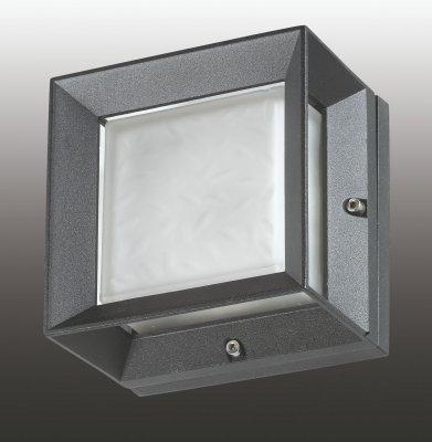 Novotech SUBMARINE 357232 уличный настенный светильникНастенные<br>Декоративный уличный настенный светильник, лампа в комплект не входит модели Novotech 357232 из серии SUBMARINE отличается следующим качеством: Корпус светильника сделан из алюминия. Это металл, основными  достоинствами которого являются — устойчивость к практически всем видам негативного воздействия окружающей среды, коррозии, небольшой вес, по сравнению с другими видами металла и   экологическая безопасность материала. Рассеиватель  сделан из  Опал пластика. Который отличается высоким качеством и длительным сроком службы. Срок службы светодиодов до 25000 часов. Диапазон рабочих температур от -20 до +50 градусов Цельсия.<br><br>Тип лампы: галогенная / LED-светодиодная<br>Тип цоколя: GX53<br>Количество ламп: 1<br>Ширина, мм: 125<br>MAX мощность ламп, Вт: 9<br>Расстояние от стены, мм: 80<br>Высота, мм: 125<br>Цвет арматуры: черный