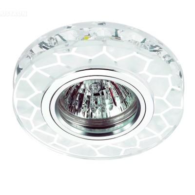 Novotech RIVA 357309 Светильник встраиваемыйХрустальные<br>Встраиваемый светильник со светодиодной подсветкой и встроенным драйвером модели Novotech 357309 из серии RIVA отличается следующим качеством: Декоративное украшение произведено из хрусталя. Хрусталь обладает высоким показателем плотности, прозрачности и блеска. Благодаря содержанию свинца (не менее 30%). Хрусталь обладает высоким показателем плотности, прозрачности и блеска. Благодаря содержанию свинца (не менее 30%) и определённому подбору углов, образуемых гранями, изделия из хрусталя отличаются необыкновенно яркой, многоцветной игрой света, чарующей магией красоты, совершенства и роскоши. Имееется возможность раздельного включения LED и лампы, при использовании двухклавишного выключателя света.<br><br>Тип лампы: галогенная/LED<br>Тип цоколя: GX5.3<br>MAX мощность ламп, Вт: 50<br>Диаметр, мм мм: 95<br>Диаметр врезного отверстия, мм: 60<br>Высота, мм: 35