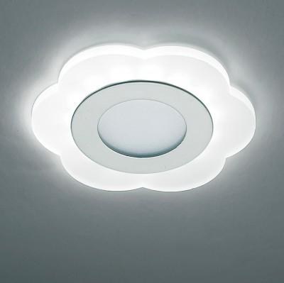 Novotech LAGO 357317 Светильник встраиваемыйКруглые LED<br>Встраиваемый светодиодный светильник со встроенным драйвером модели Novotech 357317 из серии LAGO отличается следующим качеством: Светильник выполнен из акрилового стекла. Акриловое стекло обладает рядом преимуществ, например:- высокая прозрачность (92%, которая сохраняет свой цвет и не меняется с течением времени); - отсутствие осколков при ударе (прочность оргстекла в 5 раз выше, чем у простого стекла); - водостойкость;  - легкость материала (оргстекло гораздо легче, почти в 2,5 раза, по сравнению с обычным стеклом); - высокая пропускная способность ультрафиолетовых лучей, которая составляет около 73%.<br><br>Цветовая t, К: 3000/5000/7000<br>Тип лампы: LED<br>Тип цоколя: LED<br>MAX мощность ламп, Вт: 6<br>Диаметр, мм мм: 120<br>Диаметр врезного отверстия, мм: 70<br>Высота, мм: 40<br>Цвет арматуры: серебристый