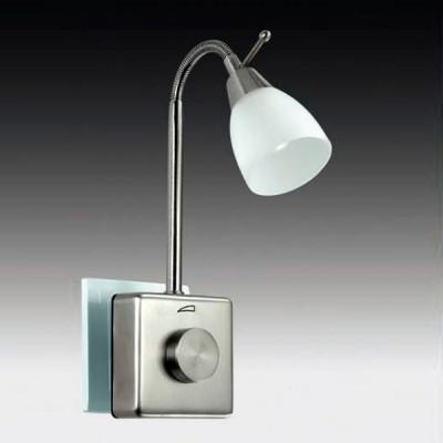 Novotech NIGHT 357324 Светильник ночникНочники<br>Светильник-ночник (в розетку) светодиодный с выключателем - диммером модели Novotech 357324 из серии NIGHT LIGHT отличается следующим качеством: Выключатель светильника сделан из пластика АБС. Преимуществами данного материала являются: 1. Химическая инертность – материал устойчив к воздействию кислот и щелочей, продуктов нефтепереработки; 2. Устойчивость к воздействию влаги; 3. Ударопрочность; 4. Долговечность; 5. Ровная поверхность Гибким металлическим держателем позволяет изменять направление и угол освещения. Наличие светорегулятора (диммера) позволяет плавно управлять процессом освещения.<br><br>Цветовая t, К: 3000<br>Тип лампы: LED<br>Тип цоколя: LED<br>Количество ламп: 1<br>Ширина, мм: 78<br>MAX мощность ламп, Вт: 1.5<br>Расстояние от стены, мм: 78<br>Высота, мм: 375<br>Цвет арматуры: серебристый